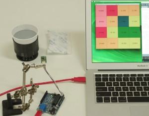 MEMS thermal sensor + Arduino + Processing