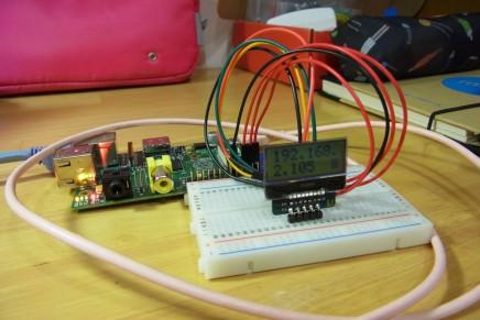 Raspberry Pi起動時にI2C接続の小型液晶にIPアドレスを表示させてみる