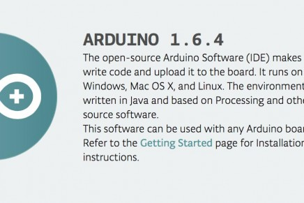 Arduino IDE 1.6.4がリリースされました