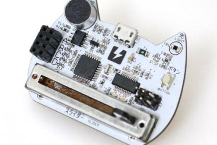 スクラッチ2.0で使えるセンサーボード「nekoboard2」を4月27日に発売します。