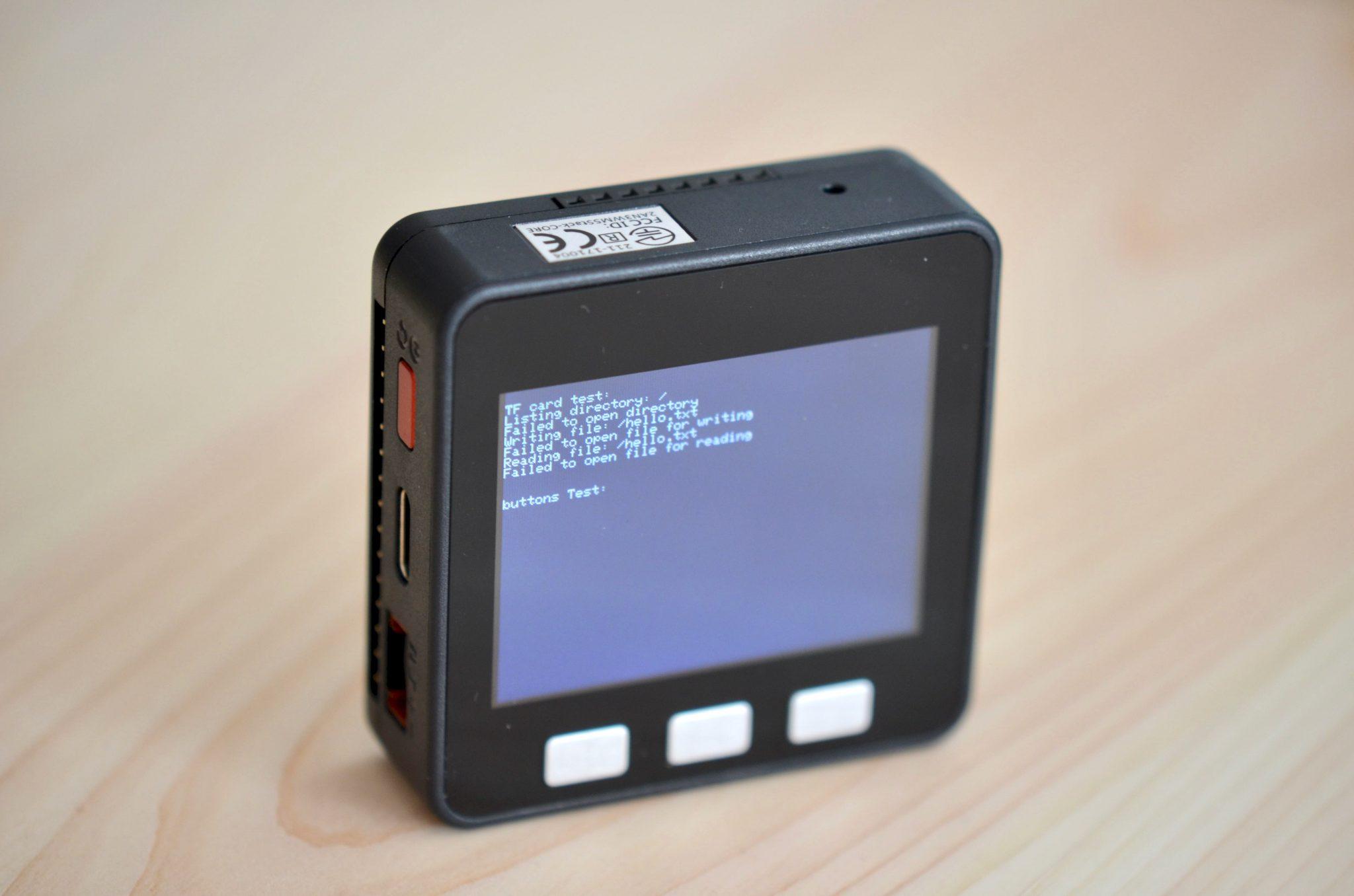 Proto Module with WIFI BLE Bluetooth Arduino Black LCD M5Stack ESP32 850Mah