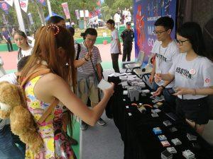 メイカーフェア深圳でのM5Stack。隣も日本のグループMorning Project Samuraiだった。